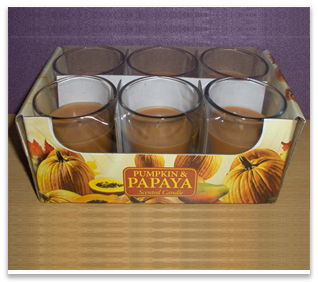 6 PK Scented Glass Votives
